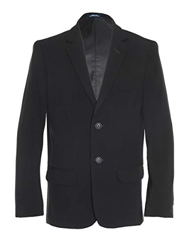 Chaps Boys' Big Formal Blazer Jacket, Black, 12