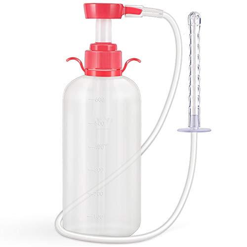 CZSM Bidet für Damen, Vaginalreinigungssystem, Wiederverwendbare Vaginaldusche, 300 ml/600 ml Kapazität mit 3 Düsen, sicher, ungiftig, 600 ml