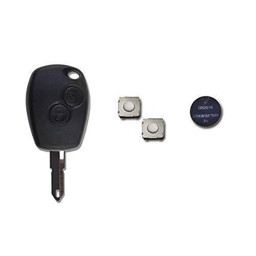 Oferta de 1neiSmartech Caparazón + Hoja + Batería + Botones Para Mando Llave 2Teclas Dacia Logan Duster Sandero Express