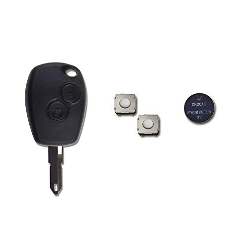 1neiSmartech Schale + Messer + Batterie + Knã¶Pfe Fã¼R Fernbedienung Schlã¼Ssel 2Tasten Dacia Logan Duster Sandero Express