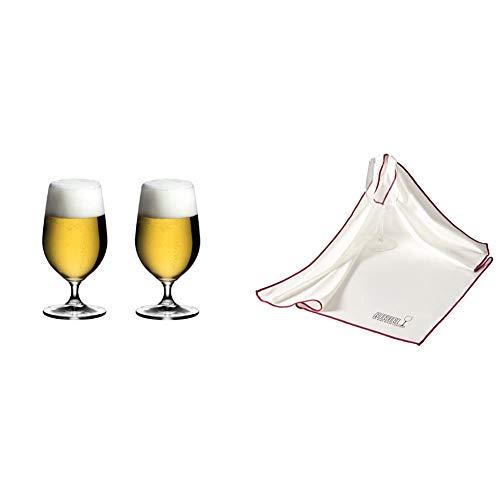 [正規品]RIEDELリーデルビールグラスペアセットオヴァチュアビア500ml6408/11&[正規品]クロスグラス用マイクロファイバー・ポリッシング・クロス0010/07【セット買い】