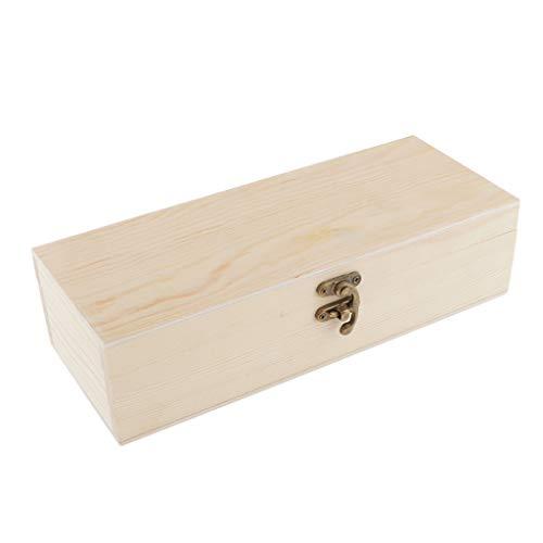IPOTCH Holzkiste mit Deckel, Allzweck-Kiste aus Holz, Schmuckkasten Kleine Holzschatulle Aufbewahrungbox Schatzkiste