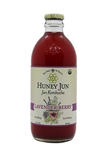 Huney Jun Lavender Berry Elderberry Organic Jun Kombucha, 12 Ounces, 6 Pack