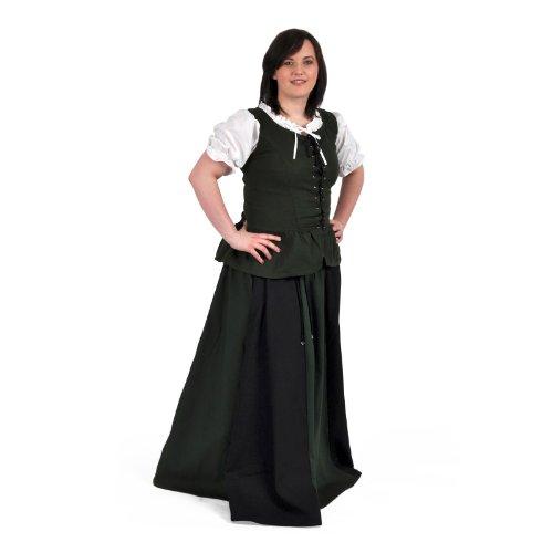 Ropa medieval - Falda medieval larga Estrella - negra y verde ...