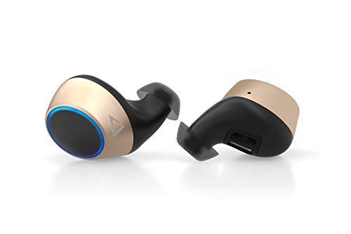 Creative Outlier Gold True Wireless schweißbeständiger Kopfhörer mit Software Super-X-Fi, Bluetooth 5.0, aptX/AAC, 39 Stunden Akkulaufzeit mit 14 Stunden pro Ladung, Siri/Google Assistant