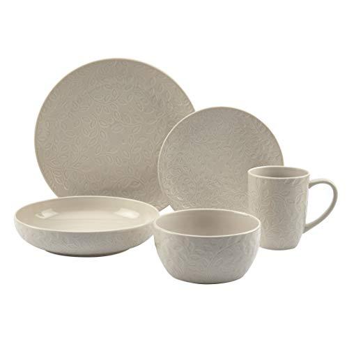 Colección de vajilla de moda de la Galería de mesas, servicio de platos de cerámica para 4 cuencos de platos de postre para ensalada