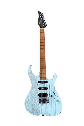 Vola MIJ Guitarras eléctricas OZ ROA Sand Blast Denim Blue Mástil de arce tostado Hecho en Japón