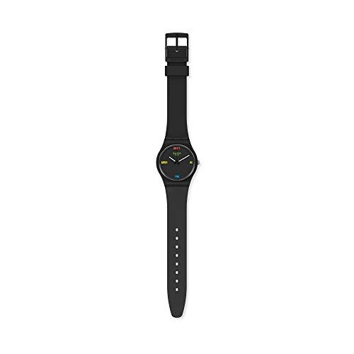 Swatch Reloj Analógico para Mujer de Cuarzo con Correa en Silicona SO28B102