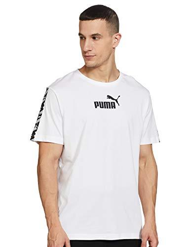 Puma Amplified tee Camiseta de Manga Corta, Hombre, Blanco White, M
