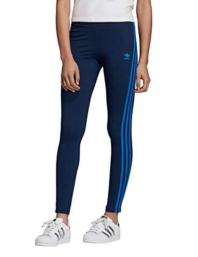 adidas Damen 3-Streifen Tights, Collegiate Navy/Bluebird, 38
