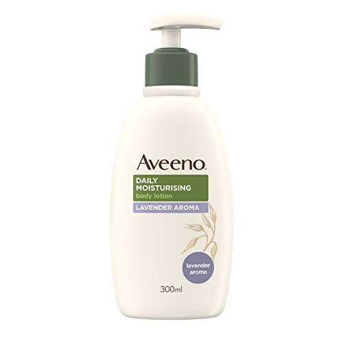Aveeno Daily Moisturising Lotion Lavender Aroma, Moisturises for 24 hours, For Normal to Dry Skin, 300 ml