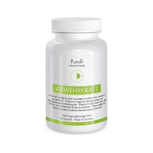 PlantaVis Abwehrkraft, Nahrungsergänzungsmittel mit Vitaminen, Mineralstoffen und Pflanzenextrakten, Monatspackung mit 60 Kapseln, vegan, 34 g