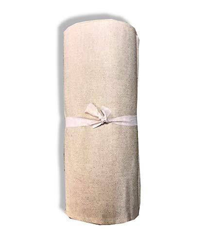 SpazioTessile Maxi tela decorativa 0P para sofá, cubrecama, multiusos, monocolor, robusto, algodón, efecto cáñamo (Beige, 260 x 280 cm)