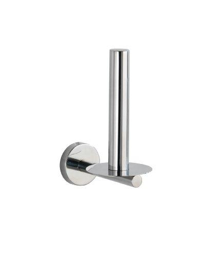 WENKO Toiletten-Ersatzrollenhalter Bosio Edelstahl glänzend - WC-Rollenhalter, Edelstahl rostfrei, 8 x 18 x 12.5 cm, Glänzend