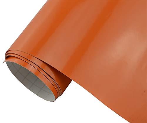 5€/m2 Auto Folie - orange glanz glänzend - 2 x 1,5 meter selbstklebend BLASENFREI flexibel Car Wrapping Klebefolie folieren