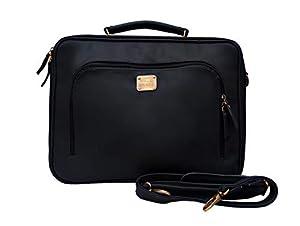 HUBEN Vegan Leather Shoulder Messenger Office Bag (Bold Blue)