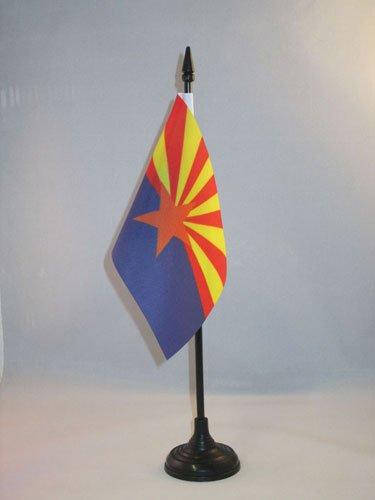AZ FLAG Drapeau de Table Arizona 15x10cm - Petit Drapeaux DE Bureau Etat américain - USA - Etats-Unis 10 x 15 cm