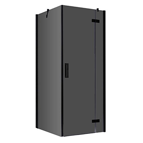 EAGO Dusche LBS1005-B schwarz/100x100/rechts