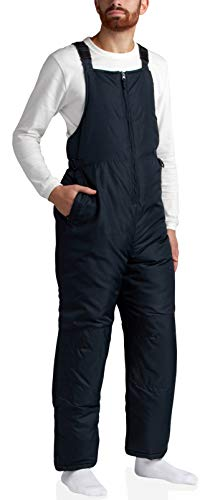 CHEROKEE Mens Insulated Water Resistant Ski Snowboard Snowbib Overall Pants (Plus Size Avail), Size 3X, Black'