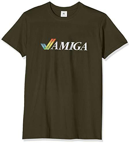 Texlab Classic Amiga - Herren T-Shirt, Größe XL, Oliv