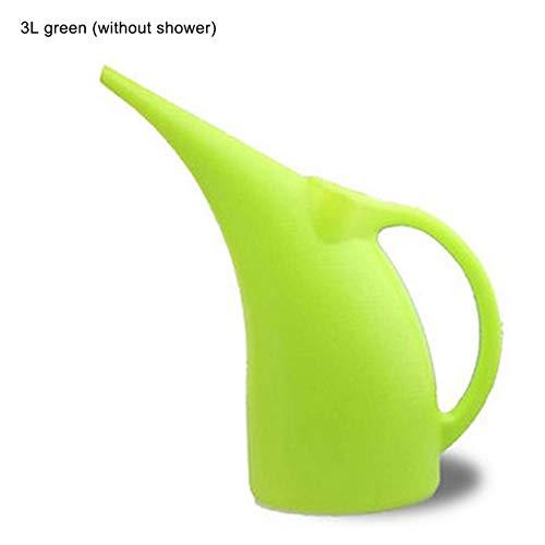 KEFRASS Gießkanne Große Kapazitäts-Lange Spout Garten-Blumen-Pflanzen Gießkanne Sprinkler Pot Behälter-Halter-Flaschen Waterer 2L / 3L (Farbe : Green 3L no Shower)