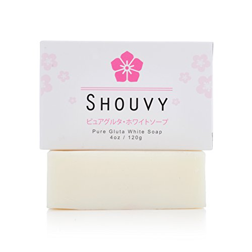 SHOUVY Glutathione White Soap - For Brighten With Coconut Oil & Vitamins C, B3-4 Oz