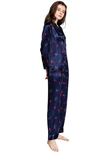 Damen Satin Pyjama Set Lucky Blue X-Large