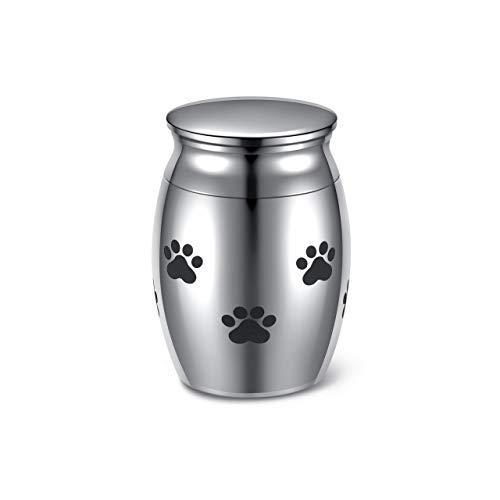 JSDDE Mini Urne aus Edelstahl Wasserdicht Gedenkurne Andenken Urne Memorial Beerdigung Andenken Urne Andenken zur sicheren Aufbewahrung von Asche (Pfote)
