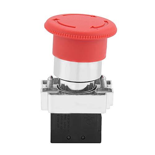 Interruptor Rojo, 600v 240v-3a, Estructurado de Forma compacta, Interruptor de Parada de Emergencia de 22 mm, Interruptor de botón de instalación Fuerte, para contactor