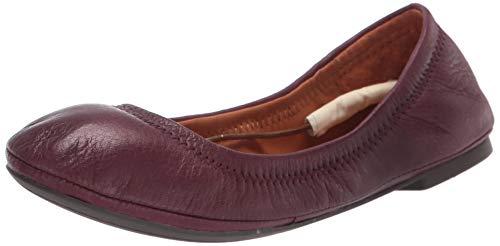 Lucky Brand Zapatos de ballet Emmie para mujer, rojo (caogan profundo), 40 EU