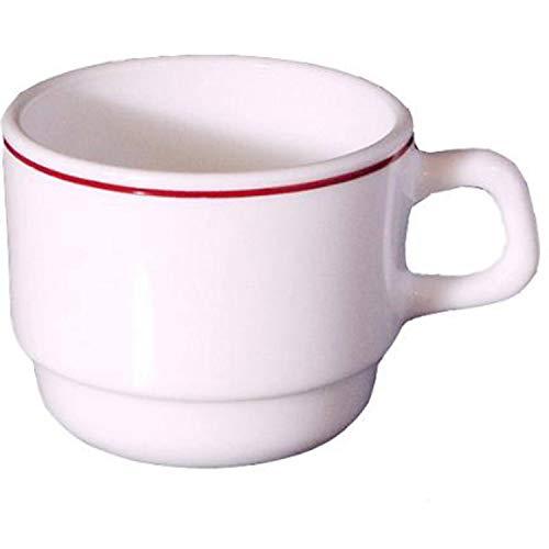 Arcoroc 12 x Kaffeetasse, Teetasse, Hartglas, weiß, 19 cl, Ø 7.8 cm, Höhe: 6.4 cm