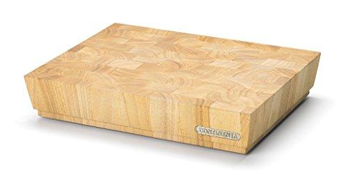Continenta Profi Hackblock aus hochwertigem Gummibaum Stirnholz, massive Holzwürfel einzeln verleimt, Profi Qualität Schneidebrett, 40 x 30 x 7,3 cm