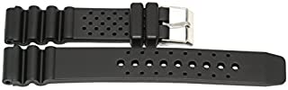 18MM BLACK RUBBER HEAVY DUTY DIVERS SPORT WATCH BAND STRAP FITS TAG & OTHERS