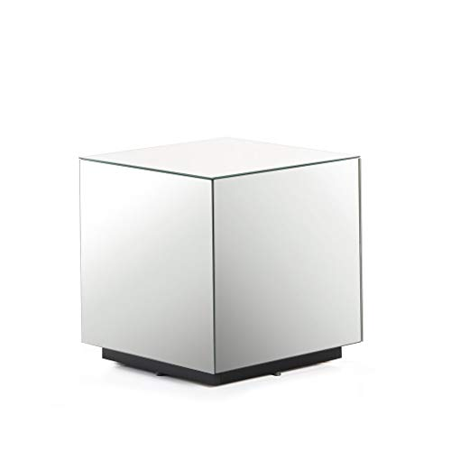 SONOROUS STB-45 All Glass Cube Side Table/Night Stand
