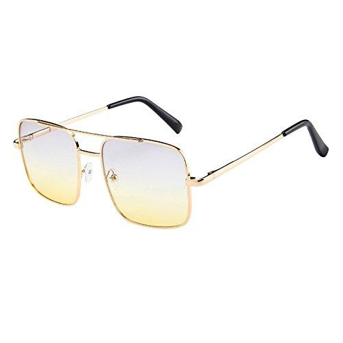 Occhiali Da Sole Per Uomo Retro Goggle Cornice Metallica Classico Retrò Occhiali Da Sole Quadrati - Vintage Polarizzate Occhiali Da Sole Donna Uomo Uv400