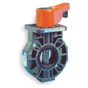"""Hayward BY Series CPVC Butterfly Valve with Lever Handle, EPDM Liner, 6"""" from Hayward"""