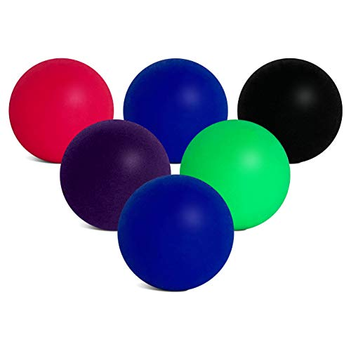 Replacement Paddle Ball Beach Balls for use with Beachball, Smashball, Kadima, Watercolors and Other Beach Paddle Ball and Beach Tennis Games | Set of 6 Paddle Balls in High Visibility Colors