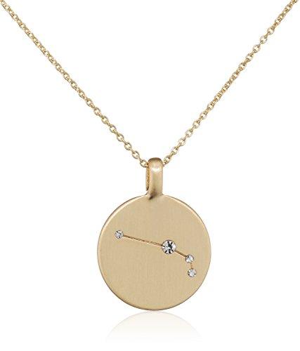 Pilgrim Damen-Kette mit Anhänger teilvergoldet Kristall weiß Rundschliff 27 cm - 521612031