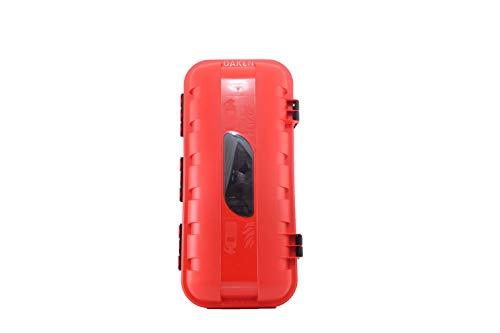 Armario de protección de plástico para extintor de 6 kg o 6 L con ventana con cerradura