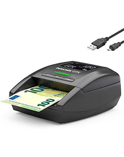Detectalia D7X – El mejor detector de billetes falsos con cable de actualización de software