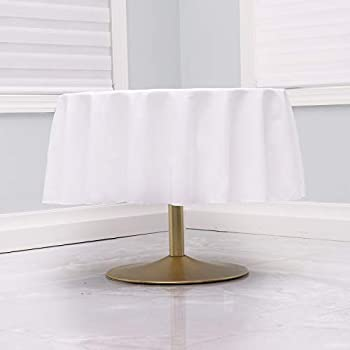 Kadut White Tablecloth - 90  Inch Round White Tablecloths for Circular Table Cover in White Washable Polyester - Great for Buffet Table Parties Holiday Dinner & More