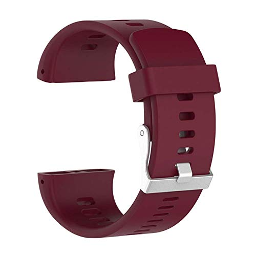 vap26 Muñeca Inteligente Pulsera Decoración Fitness Recambio Correa para la Muñeca para Hombre Mujer Smartwatch Silicona Deportivo Adulto para Utilizar Polar V800 (Negro) - Rojo Vino, Free Size