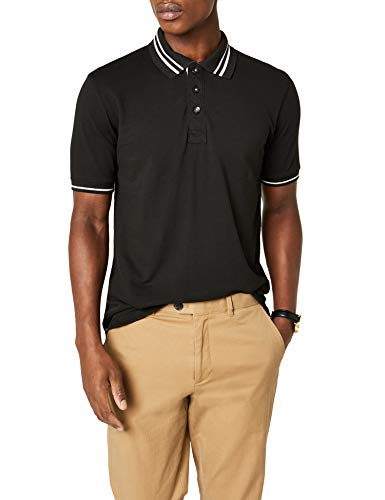 JAMES & NICHOLSON Poloshirt Men's Lifestyle Polo, Noir (Black/Off-White), (Taille Fabricant: Small) Homme