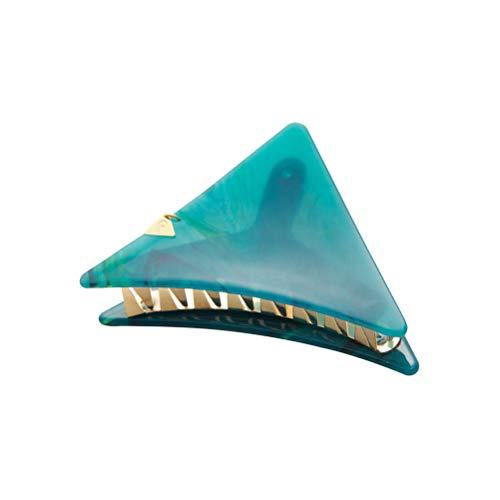 Lurrose Nouveau Triangle De Luxe Coiffure Grip Clip Gorgeous Marbre Coiffure En Épingle À Cheveux Gripper Taille Grand (Vert Foncé)