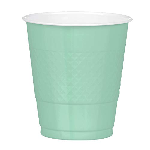 Mint Green Disposable Plastic Cups - 20pc / 12 oz.