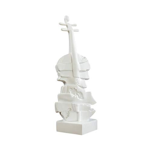 ZLBYB Kreative Violine Ornamente Von Einrichtungs Europäischen Stil Wohnzimmer TV Schrank Dekor Große Schmuck Display Instrument, Weiße Trompete