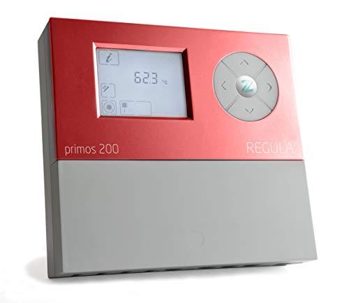 Solarregler primos 200, Solarsteuerung für thermische Solaranlagen, Standard und PWM Solarpumpen. Rot
