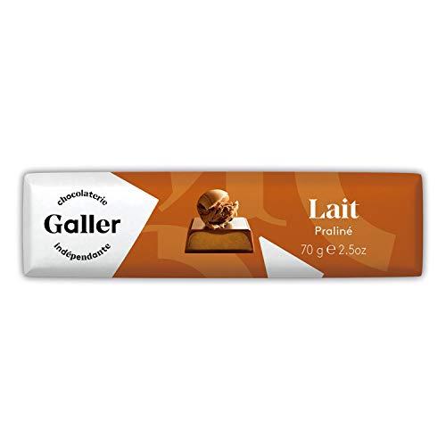 Galler ( ガレー ) ベルギー王室御用達 チョコレート BAR バー 70G*1本セット(ミルク・プラリネ)