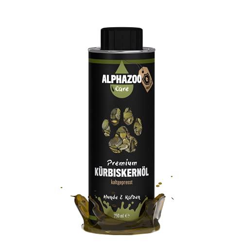 alphazoo Olio di semi di zucca, per cani e gatti, olio di alta qualità pressato a freddo per digestione, ricco di vitamine e minerali, aggiunta per alimenti Barf, scatola di latta riciclabile
