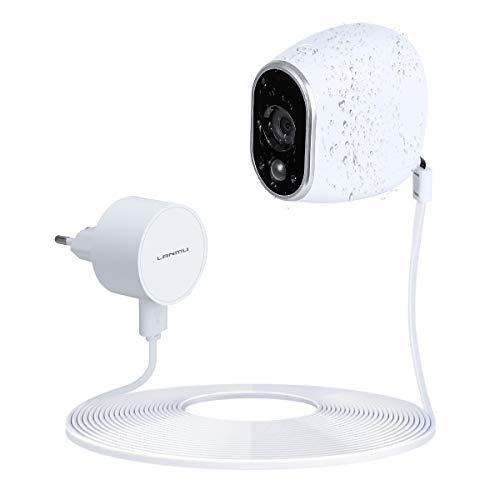 Wetterfest Netzteil Adapter und 8m Kabel für Arlo Sicherheitskamera Smart Home Sicherheitssystem Zubehör (Weiß)
